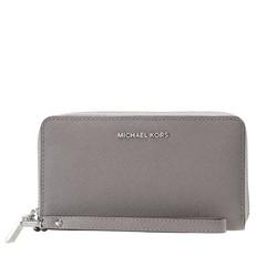 Peněženka Michael Kors Jet Set Travel Large Smartphone Wristlet pearl grey