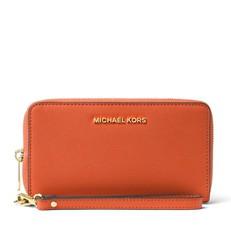 Peněženka Michael Kors Jet Set Travel Large Smartphone Wristlet orange