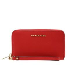 Peněženka Michael Kors Jet Set Travel Large Smartphone Wristlet bright red