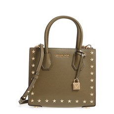 Kabelka Michael Kors Mercer Medium Studded Crossbody olive