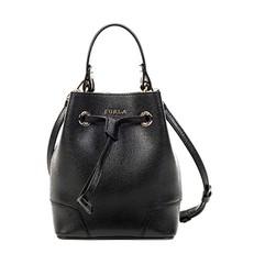 Kožená kabelka Furla Stacy Mini černá
