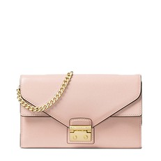 Kabelka Michael Kors Sloan Leather Chain Wallet soft pink