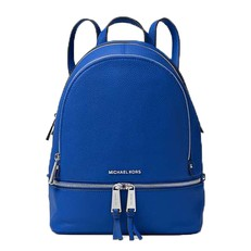 Kabelka batoh Michael Kors Rhea Medium Leather Backpack electric blue