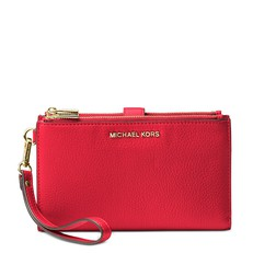 Kabelka Michael Kors Adele Leather Smartphone Wristlet bright red