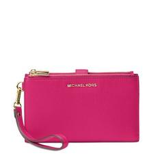 Kabelka Michael Kors Adele Leather Smartphone Wristlet ultra pink