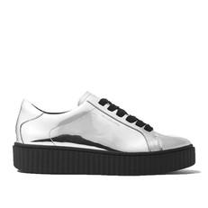 Obuv Michael Kors Trevor Metallic Platform Sneaker stříbrná