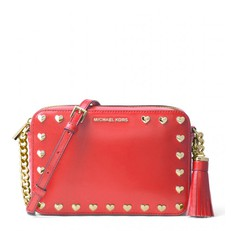 Kabelka Michael Kors Ginny Heart Crossbody bright red