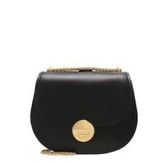 Kožená kabelka Coccinelle Violaine Crossbody černá