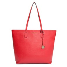 Kožená kabelka Coccinelle Clementine Saffiano Leather Shopping Tote coquelicot