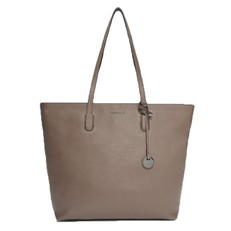 Kožená kabelka Coccinelle Clementine Saffiano Leather Shopping Tote taupe
