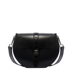 Kožená kabelka Coccinelle Carousel Calfskin With Single Shoulder Strap černá