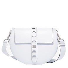 Kožená kabelka Coccinelle Carousel Calfskin With Single Shoulder Strap blanche