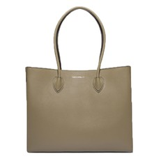 Kožená kabelka Coccinelle Farisa Leather Shopping Tote militaire