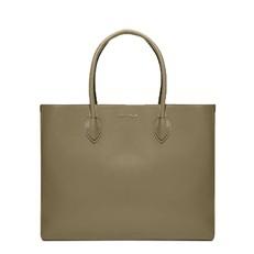 Kožená kabelka Coccinelle Farisa Leather Handbag militaire