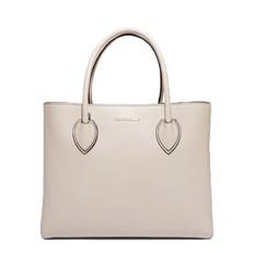 Kožená kabelka Coccinelle Farisa Leather Handbag seashell
