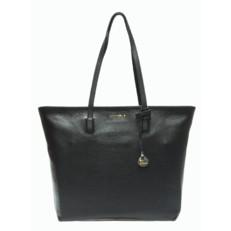 Kožená kabelka Coccinelle Clementine Soft Leather Shopping Tote černá