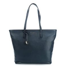 Kožená kabelka Coccinelle Clementine Soft Leather Shopping Tote modrá