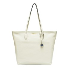 Kožená kabelka Coccinelle Clementine Soft Leather Shopping Tote blanche