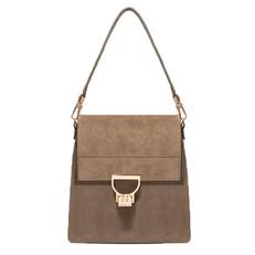 Kožená kabelka batoh Coccinelle Arlettis Suede militaire