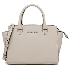 Kabelka Michael Kors Selma Medium Saffiano Satchel cement
