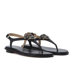 Kožené sandálky Michael Kors Lee černé
