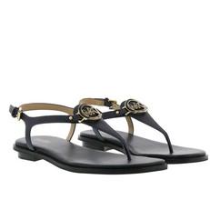 Kožené sandálky Michael Kors Lee temně modré