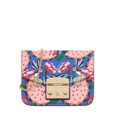 Kožená kabelka Furla Metropolis Mini Toni Rosa