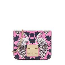 Kožená kabelka Furla Metropolis Mini Toni Orchidea