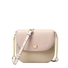 Kabelka Michael Kors Mott Color-Block Leather Dome Crossbody oyster/soft pink