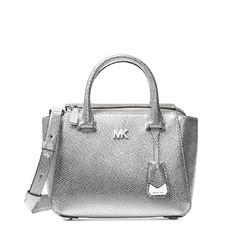 Kabelka Michael Kors Nolita Mini Leather Satchel stříbrná
