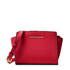 Kabelka Michael Kors Selma Mini Messenger Saffiano bright red