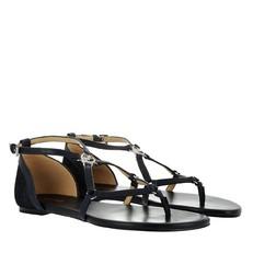 Kožené sandálky Michael Kors Terri Flat admiral/denim