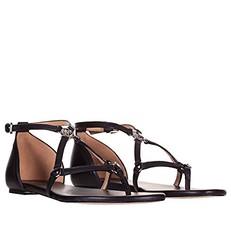 Kožené sandálky Michael Kors Terri Flat černé