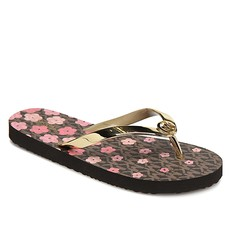 Obuv žabky Michael Kors Flower Flip Flop brown/gold