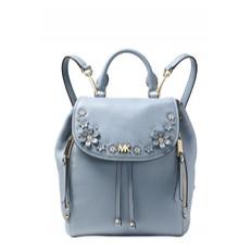 Kabelka batoh Michael Kors Evie Small Flower Garden Backpack pale blue
