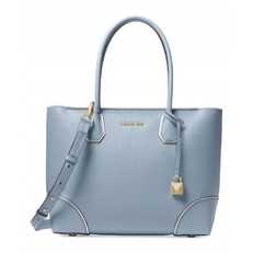 Kabelka Michael Kors Mercer Gallery Medium East West Top Zip Tote pale blue