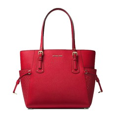 Kabelka Michael Kors Voyager Small Saffiano Tote bright red
