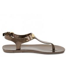 Sandálky Michael Kors Jelly Flat bronzove
