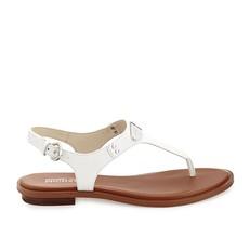 Kožené sandálky Michael Kors Plate Thong bílé