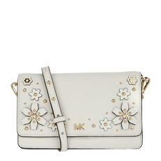 Kabelka Michael Kors Flower Garden Small Phone Wallet Crossbody optic white