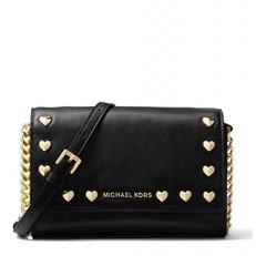Kabelka Michael Kors Ginny Heart Clutch černá