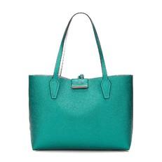 Kabelka Guess Bobbi Reversible Shopper zelená/stříbrná
