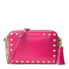Kabelka Michael Kors Ginny Heart Crossbody ultra pink