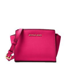 Kabelka Michael Kors Selma Mini Messenger Saffiano ultra pink