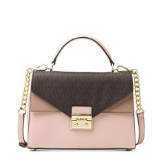 Kabelka Michael Kors Sloan Color-Block Leather and Logo Satchel