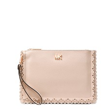 Kabelka Michael Kors Medium Scalloped Pebbled Leather Pouch soft pink