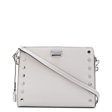 Kabelka Michael Kors Sylvie Studded Leather Messenger aluminium