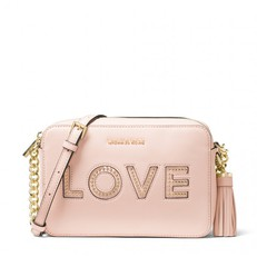 Kabelka Michael Kors Ginny Love Leather Crossbody soft pink