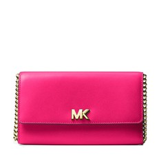 Kabelka Michael Kors Mott Leather Clutch ultra pink