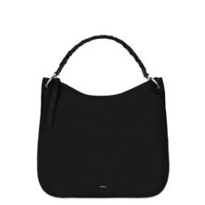 Kožená kabelka Furla Rialto Hobo XL onyx
